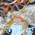 画像4: お宮参りの着物 初着 産着 男の子 上質国産生地 洗えるお祝い着(合繊)【紺色、兜に龍】