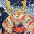 画像5: お宮参りの着物 初着 産着 男の子 上質国産生地 洗えるお祝い着(合繊)【紺色、兜に龍】