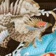画像5: お宮参りの着物 初着 産着 2019年新作 男の子 上質国産生地 洗えるお祝い着(合繊)【茶色、鷹に宝尽くし】