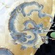 画像3: お宮参りの着物 初着 産着 男の子 上質国産生地 洗えるお祝い着(合繊)【白x黒、竜に鼓】