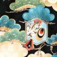 画像4: お宮参りの着物 初着 産着 男の子 上質国産生地 洗えるお祝い着(合繊)【白x黒、竜に鼓】