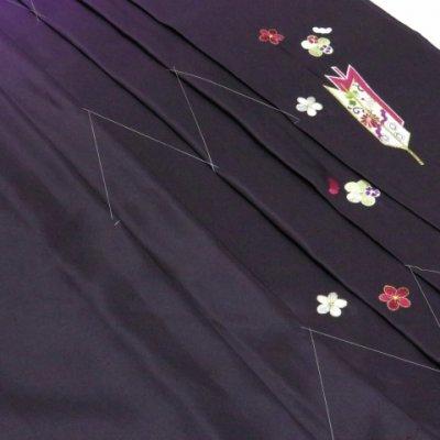 画像4: 卒業式 袴 女性用 刺繍入りぼかし袴 【紫系、矢羽根・梅】[S/M/L/2Lサイズ]