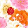 画像3: お宮参り 着物 初着 産着 女の子用 上質国産生地 洗えるお祝い着【オレンジ、大桜柄】