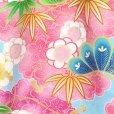 画像3: お宮参り 女の子 着物 初着 産着 上質国産生地 洗えるお祝い着【水色、花車にうさぎ】