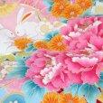 画像4: お宮参り 女の子 着物 初着 産着 上質国産生地 洗えるお祝い着【水色、花車にうさぎ】