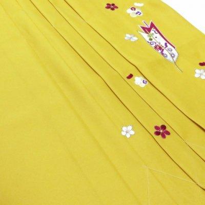 画像4: 卒園式 入学式 七五三 に 7歳女の子用 刺繍入り袴 単品【マスタード】 紐下丈70cm(120サイズ) 紐下丈70cm(120サイズ)