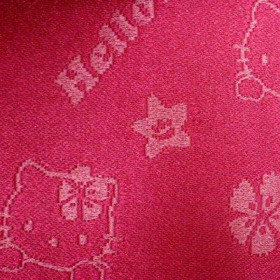 """画像4: 子供浴衣帯 """"ハローキティー""""の女の子用作り帯(結び帯)【濃いピンク】"""