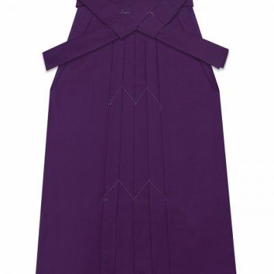 画像2: 卒業式 小学生 ジュニア向け シンプルな無地袴 78cm(135サイズ)【紫】