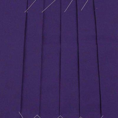 画像4: 卒業式 小学生 ジュニア向け シンプルな無地袴 78cm(135サイズ)【紫】