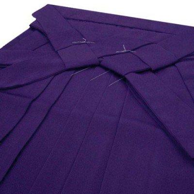 画像3: 卒業式 小学生 ジュニア向け シンプルな無地袴 82cm(140サイズ)【紫】