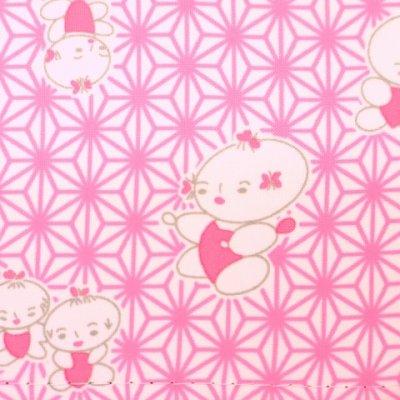 画像3: 子供着物用 和装小物 帯板(前板)【桃、わらべ】