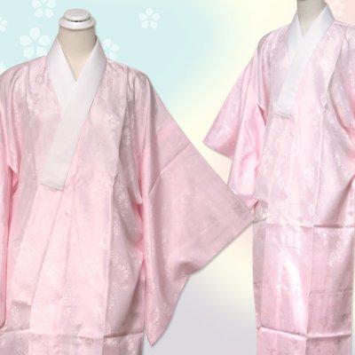 画像2: 着物用長襦袢 小紋 訪問着用 長じゅばん S/M/L/LL【ピンク】
