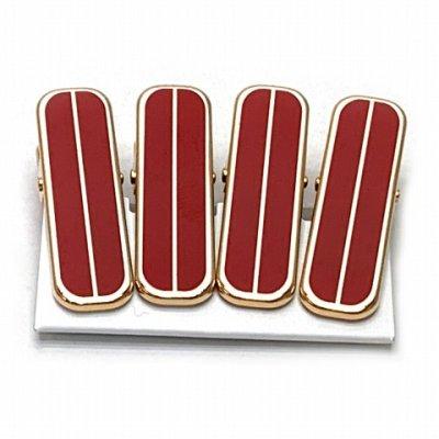 画像2: 和装着付小物 着物クリップ(小)【金&赤】※四個セット