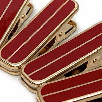 画像3: 和装着付小物 着物クリップ(小)【金&赤】※四個セット