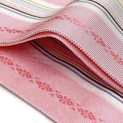 画像2: 和装小物 本場筑前博多織の正絹の伊達しめ ※柄おまかせ【ピンク系】