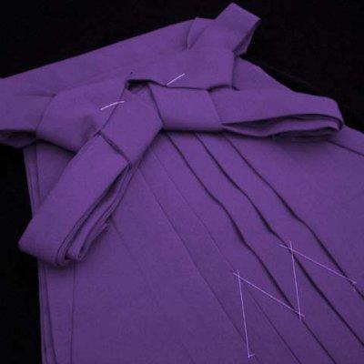 画像3: 卒園式 入学式 七五三 に 7歳女の子用 無地の子供袴【青紫】 紐下丈70cm(120サイズ)
