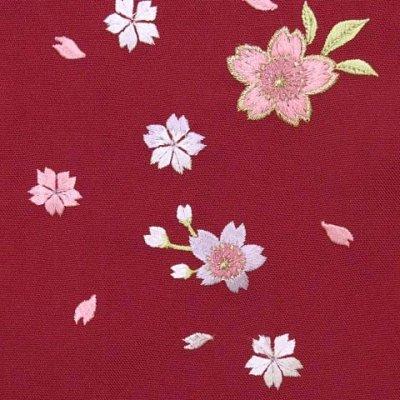 画像2: 七五三 3歳女の子用 桜刺繍の子供袴【ローズ】 紐下丈55cm(100サイズ)
