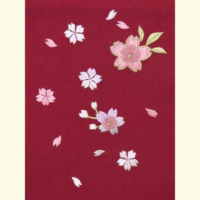 画像3: 七五三 3歳女の子用 桜刺繍の子供袴【ローズ】 紐下丈55cm(100サイズ)