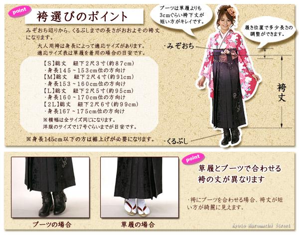 袴のサイズ選びのポイント