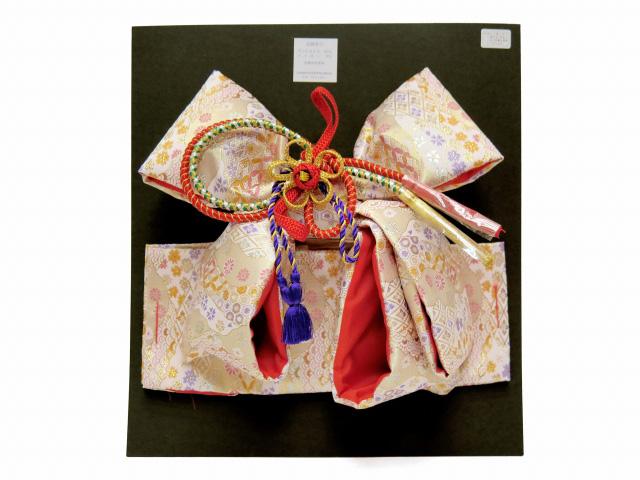画像5: 七五三 3歳女の子用 金襴 結び帯&箱せこペアセット(小寸)【白系】