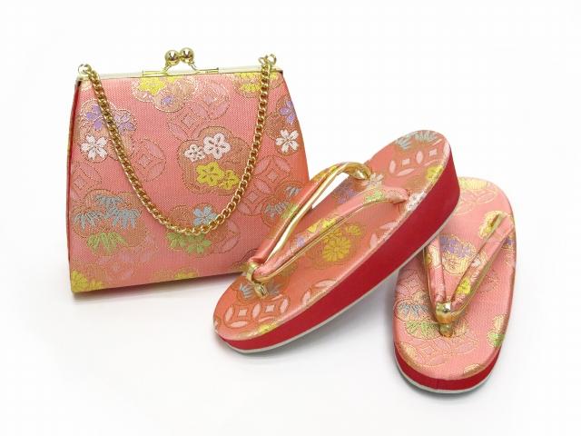 画像3: 七五三 3歳女の子用 金襴 結び帯&箱せこペアセット(小寸)【ピンク】