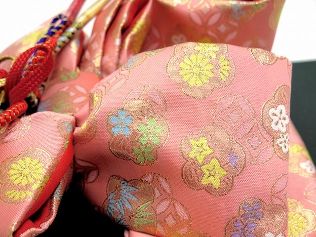 画像4: 七五三 3歳女の子用 金襴 結び帯&箱せこペアセット(小寸)【ピンク】