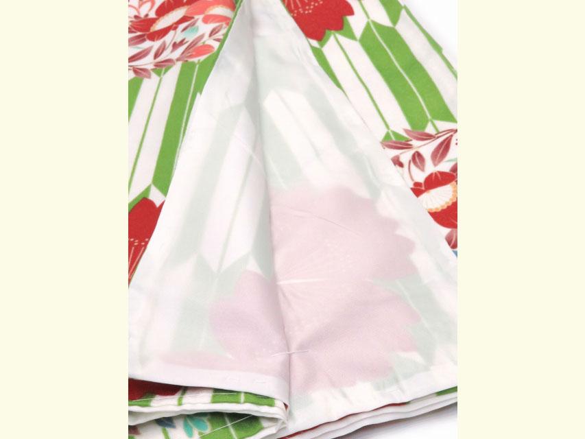 画像5: 洗える着物 袷 小紋 ナカノヒロミチ Mサイズ 単品【緑 矢絣】