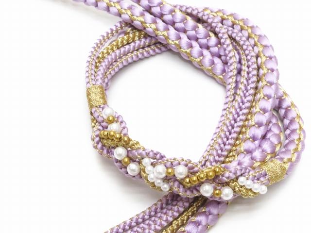 画像2: 成人式などに 振袖用 帯締め 手組紐の帯締め 正絹 単品【紅藤色】