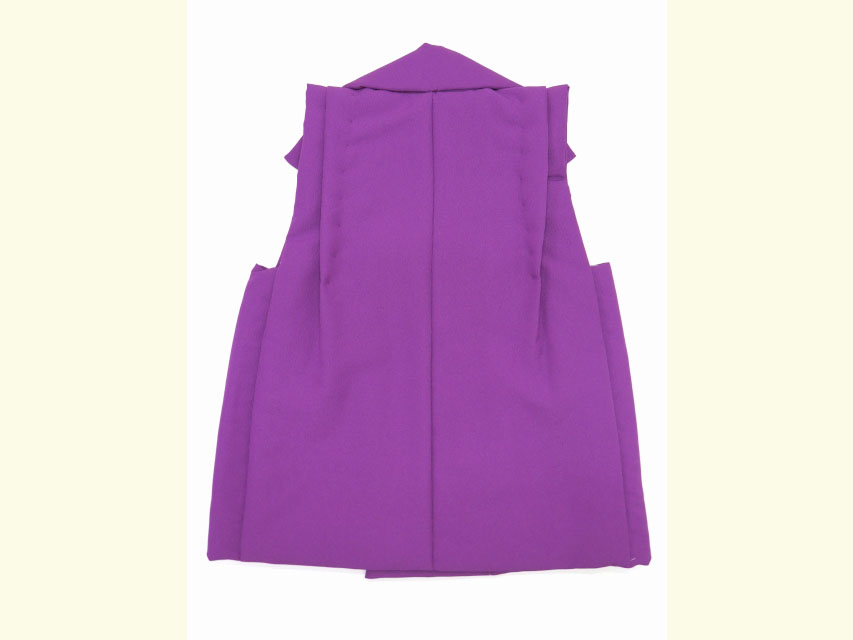 画像5: 被布コート 単品 七五三 3歳男の子用 刺繍入り被布コート(合繊)【紫 兜】