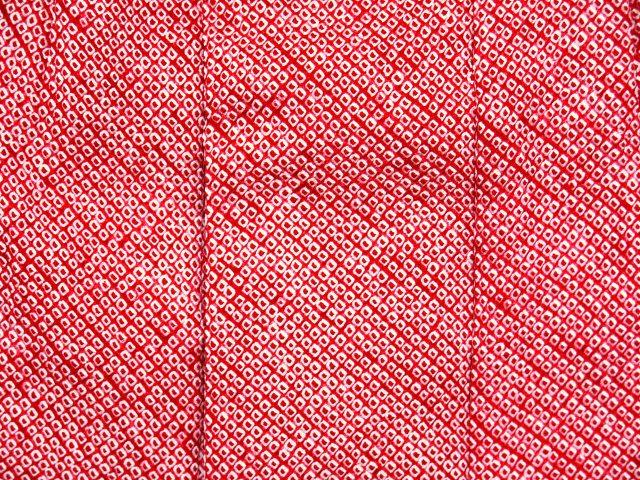 画像4: 七五三 3歳 女の子用 総絞りの被布コート(正絹)【赤 鹿の子】