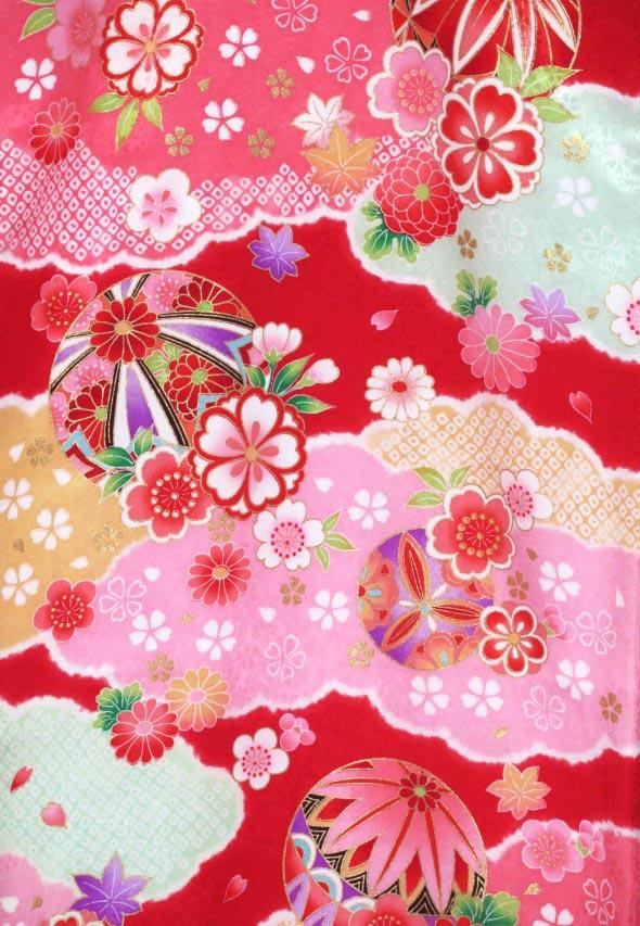 画像4: お宮参り 着物 女の子 日本製 正絹 金駒刺繍入り 赤ちゃんのお祝い着 産着 初着【赤 鞠に雲】