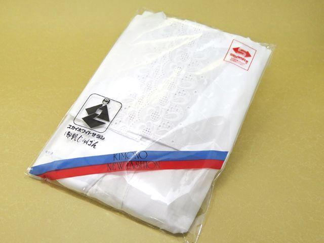 画像3: 【肌着 着物用インナー】 スカイホワイト 和装肌襦袢(袖レース、半衿付き) M/L【白】