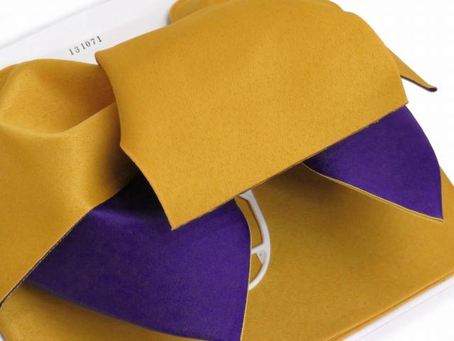 画像3: 女性用浴衣帯 みやこ結び風の作り帯 日本製【濃い黄色×紫】