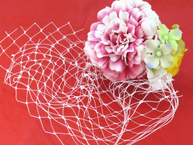 """画像2: こども髪飾り """"sumika"""" オリジナルアートフラワー髪飾り【ピンク チュール】"""