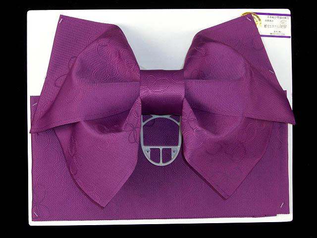 画像2: ジュニア用浴衣帯 女の子 作り帯(結び帯)【紫、蝶】