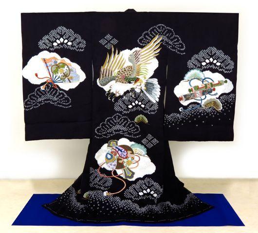 画像2: お宮参り着物 初着(産着)飾り衣桁【男の子用】