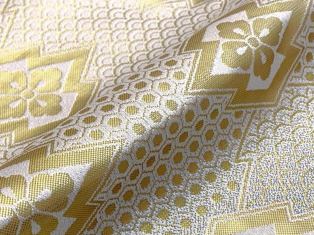 画像4: 七五三 5歳 男の子用 金襴袴【白銀&グレー、亀甲と華様紋】と小物の7点セット
