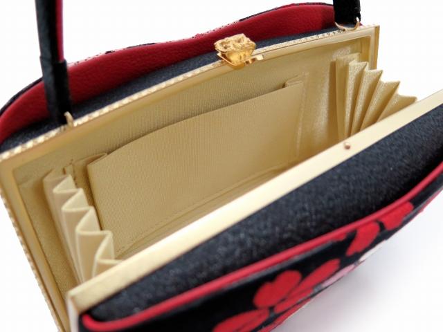 画像4: 振袖用草履バッグセット 岩佐ブランド 西陣織帯生地使用【黒&赤、桜】