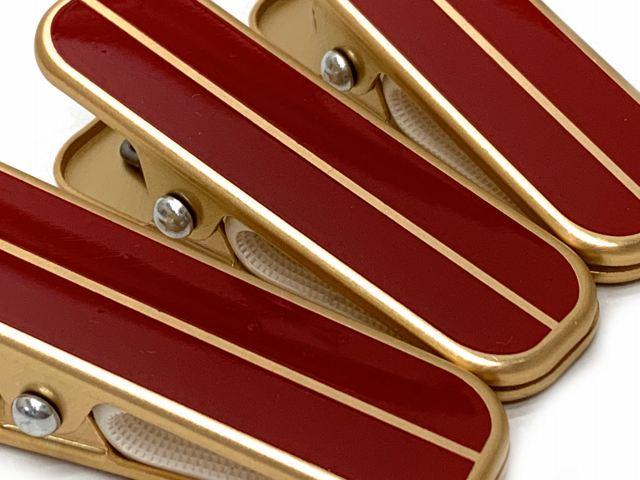 画像3: 和装着付小物 着物クリップ【金&赤】※三個セット