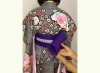 画像1: 女の子袴用 簡単!ワンタッチ袴下帯(帯枕付き)【エンジ】